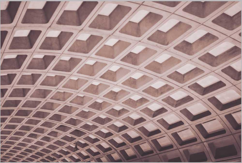 Vaulted Concrete Metro Ceiling Brutalist