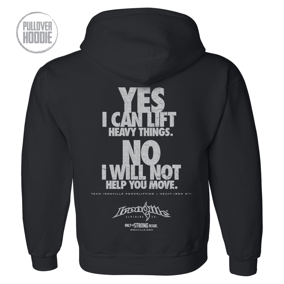 Yes No Powerlifting Hoodie Ironville Clothing