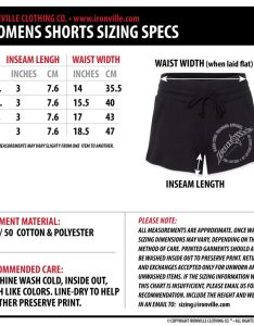 Ironville clothing womens gym shorts size chart co also rh