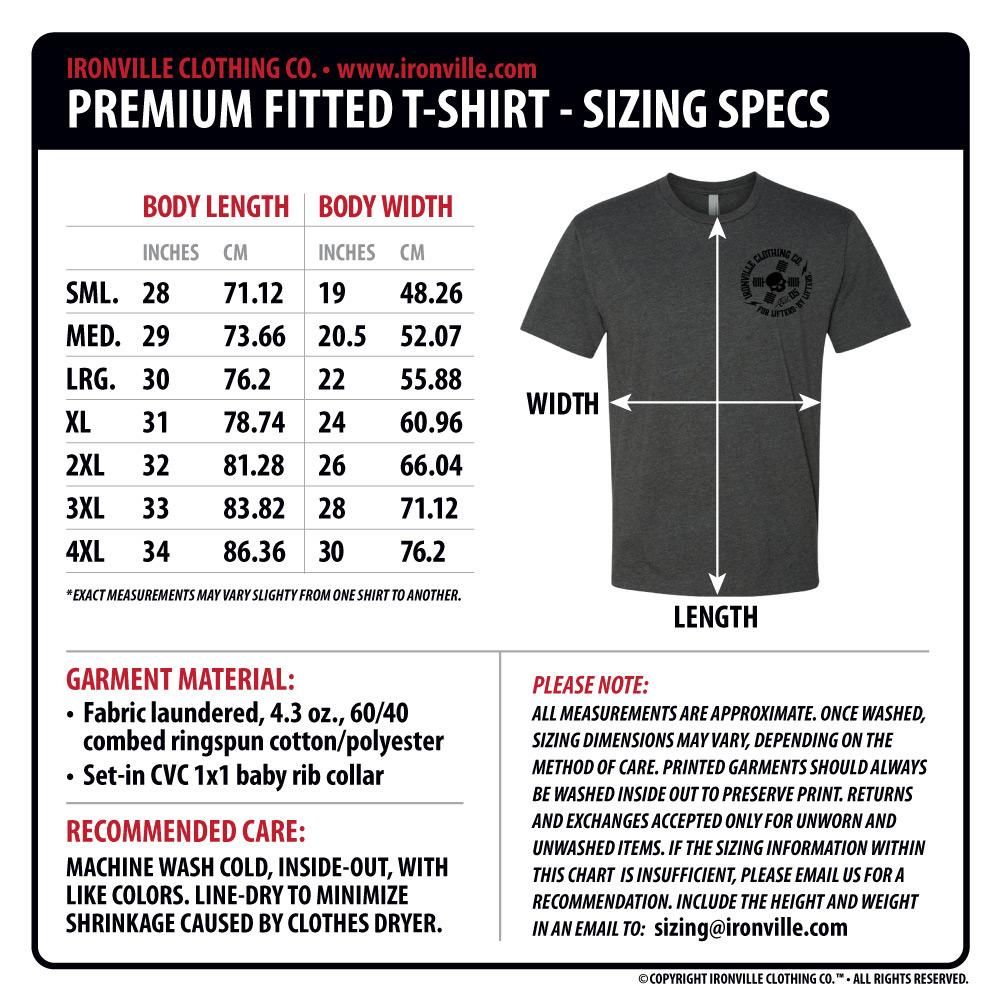 American Apparel T Shirt Size Chart