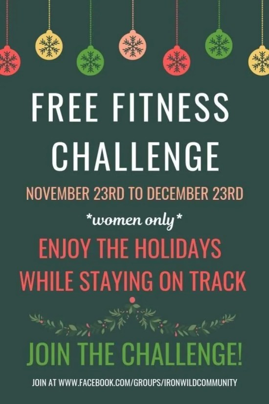 Free holiday fitness challenge - join Maintenance Month!