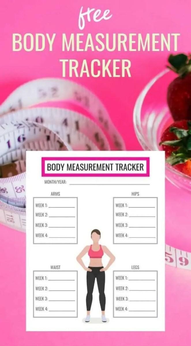 free body measurement tracker download printable