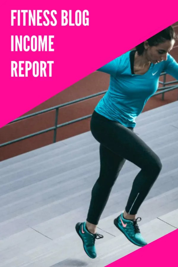 fitness blog income report