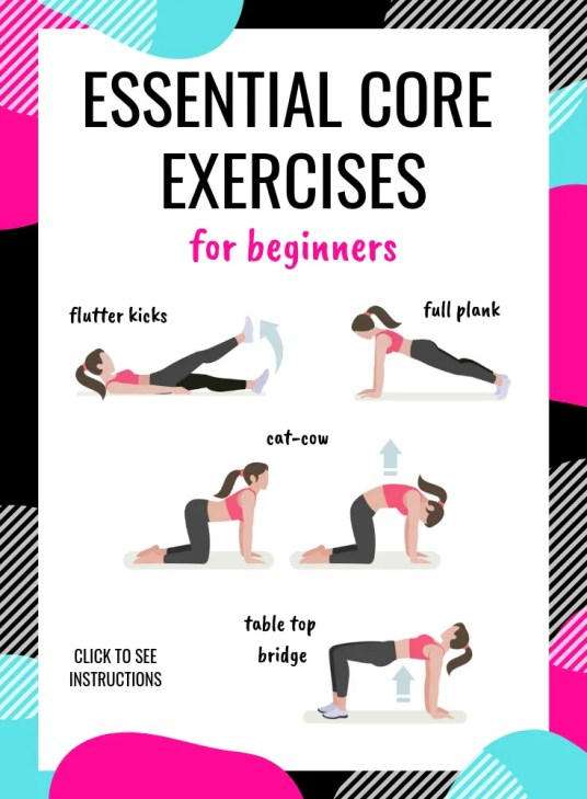 essential core exercises for beginners. This is a great beginner ab workout