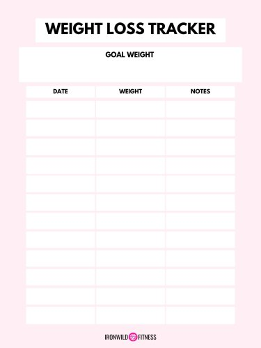 Free Printable Weekly Weight Loss Tracker (+ Weigh-In ...
