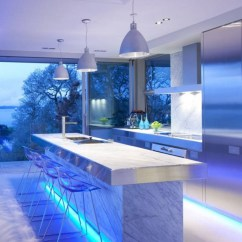 Kitchen Led Lighting Countertop Trends Ultra Modern Design With Fixtures