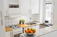 contemporary small apartment kitchen