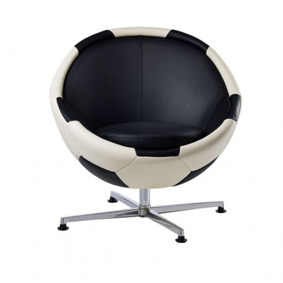 Unique Leather Soccer Ball Chair by Paolo Lilius  Irooniecom