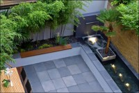 contemporary backyard decorations plans