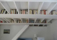 unique ceiling bookshelf ideas
