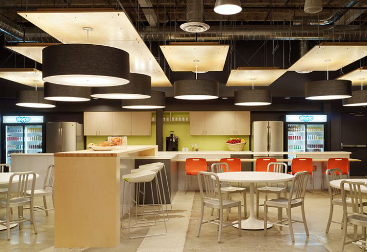 Distinctive Skype Office Designs with Modern and Neatly Landscaping  Irooniecom
