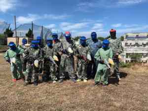 Partie de paintball à Torreilles