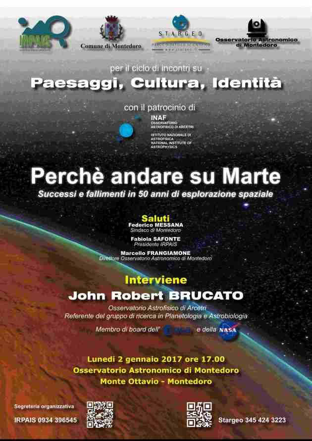 Astrobiologia, IRPAIS, Montedoro, Valorizzazione delle Aree Interne, John Robert Brucato, Aree Interne