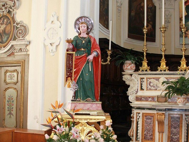 La statua di Santa Lucia Grottaminarda