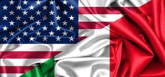 Bandiera statunitense ed italiana