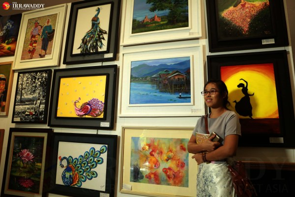 Female Artists Exhibition Opens In Rangoon