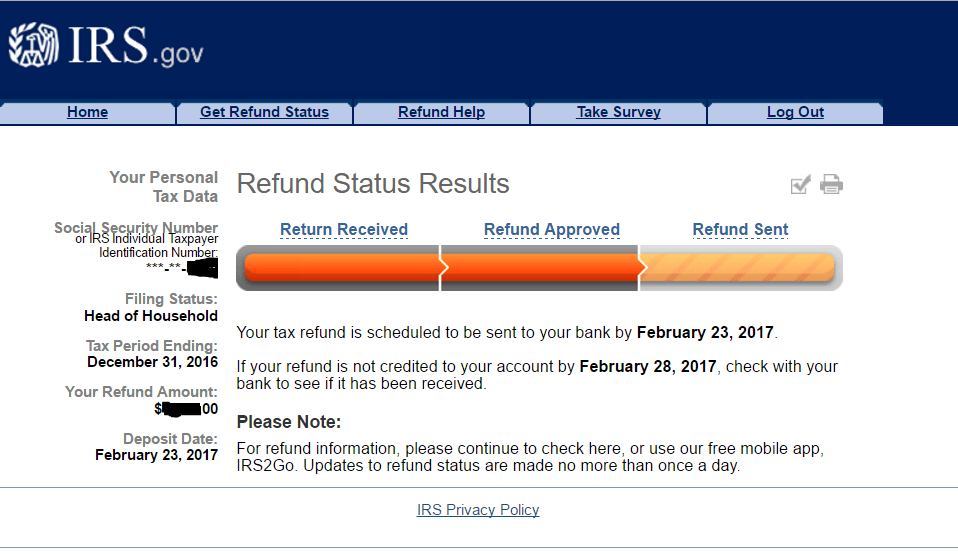 Expected Tax Refund
