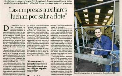 """Las empresas Auxiliares """"luchan por salir a flote"""""""