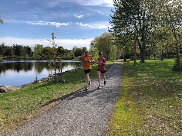 Kanata park run at the scenic Beaver Pond Trail
