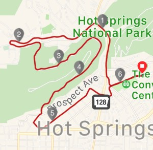 Over 40 Runner 10k course map Hot Springs Arkansas runner Spak10k