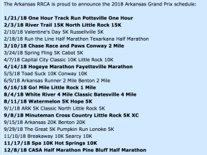 Arkansas Runner RRCA Grand Prix 2018