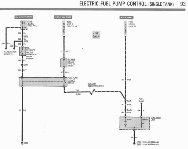 Diagram Ford 460 Motorhome Fuel Pump Wiring Diagrams 1983