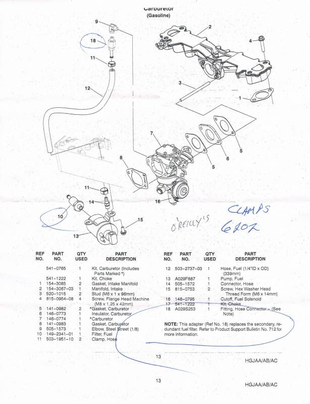 Onan 4000 Generator Carburetor Parts Diagrams, Onan, Free