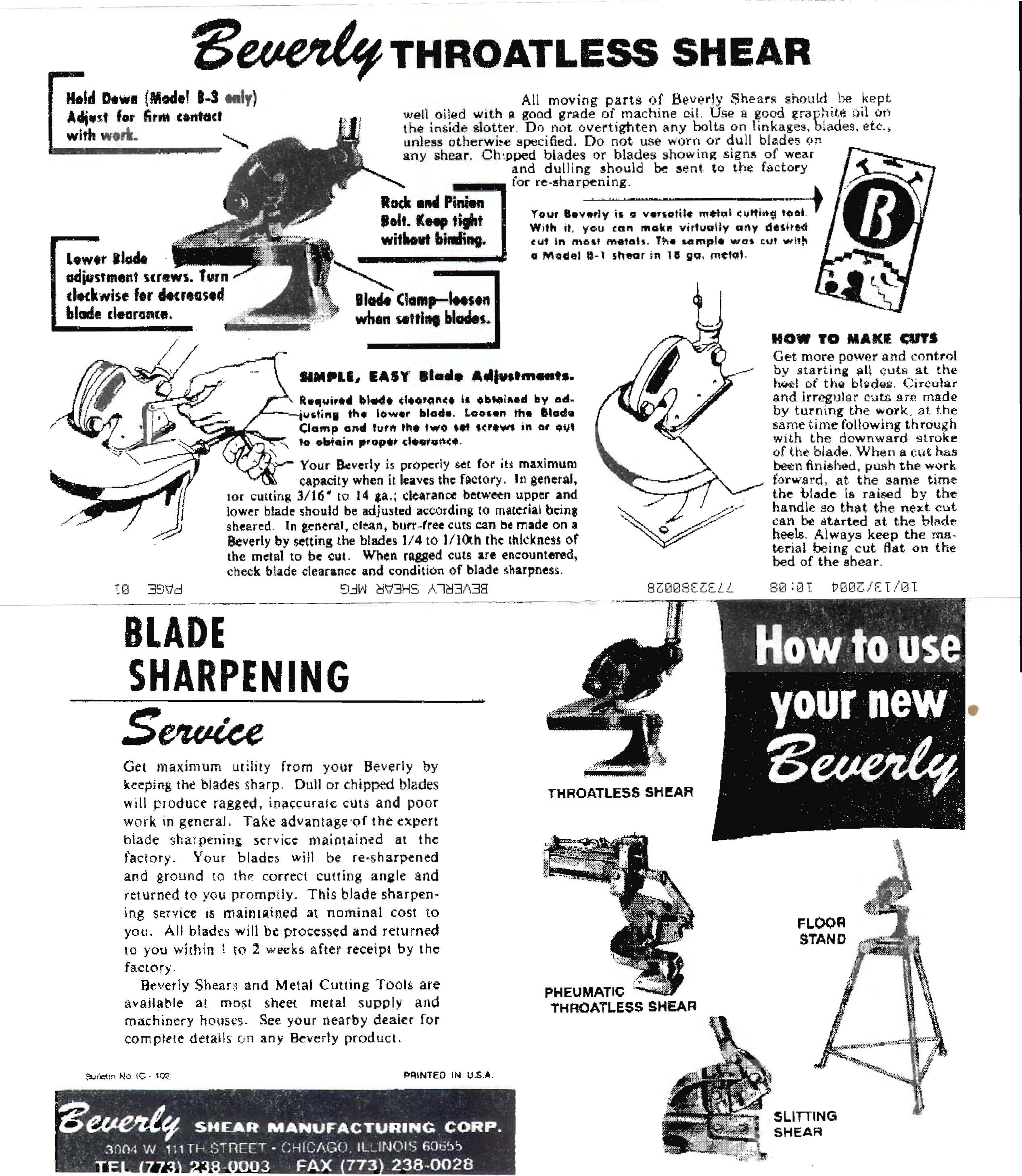 B-1 BLADE Beverly Shear B-1 Replacement Blades [BEV-B-1