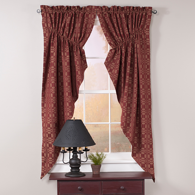 Primitive Country Curtains  Irvins Tinware