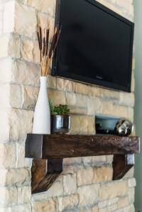 Austin Stone Fireplace Before and After | Irwin Construction