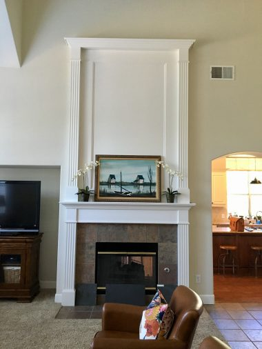 DoubleSided Fireplace Before  After