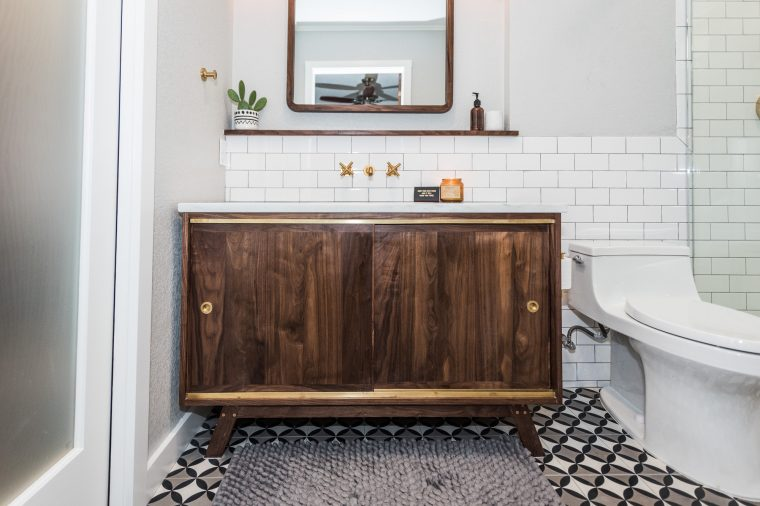 mid century kitchen cabinets arts and crafts midcentury modern bathroom before & after - irwin construction