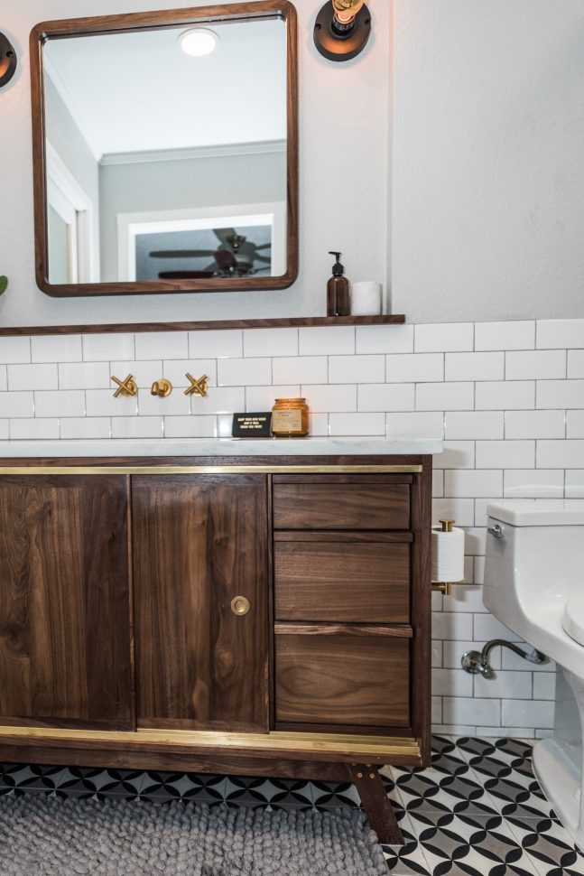 Midcentury Modern Bathroom Before  After  Irwin Construction