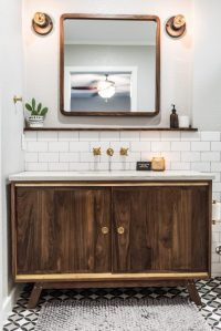 Midcentury Modern Bathroom Before & After - Irwin Construction