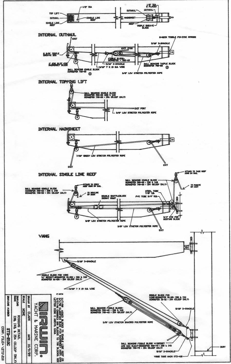 standing rigging diagram brake controller wiring chevy boom data blog irwin yachts 38 54001 sailboat