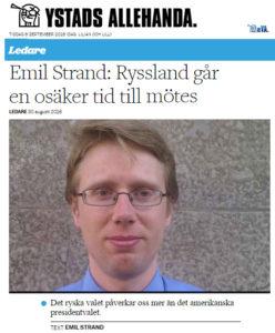 Ystad Allehanda Emil Strand Ryssland