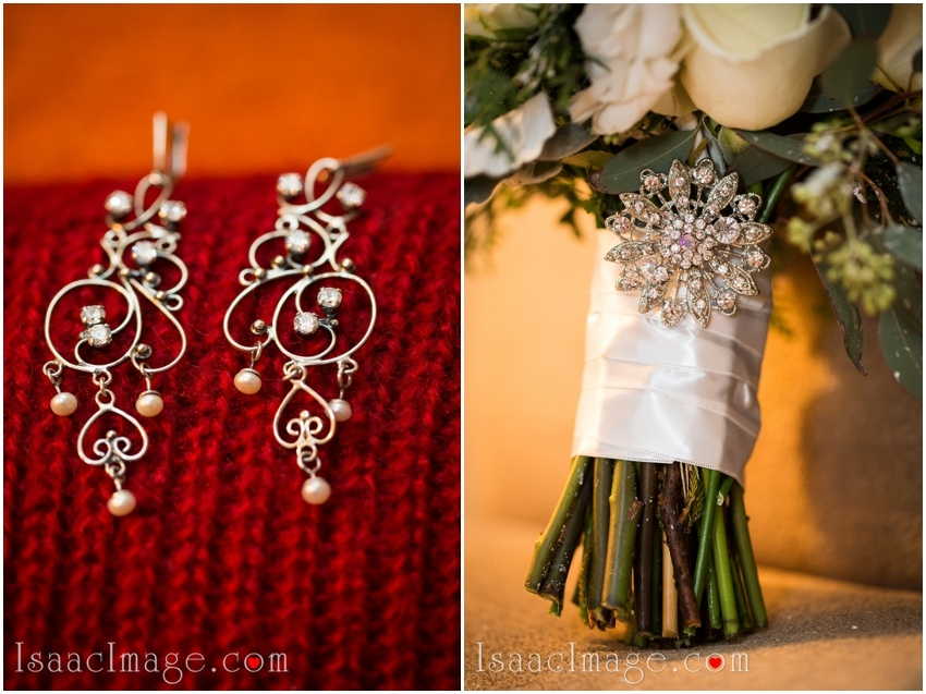 bridal bouquet earrings