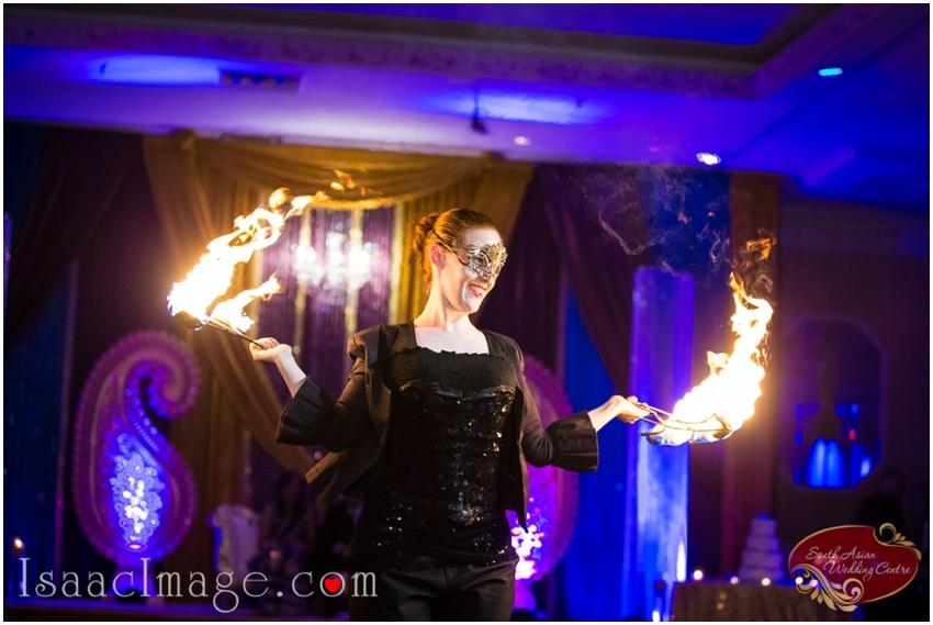 indian wedding reception fire show