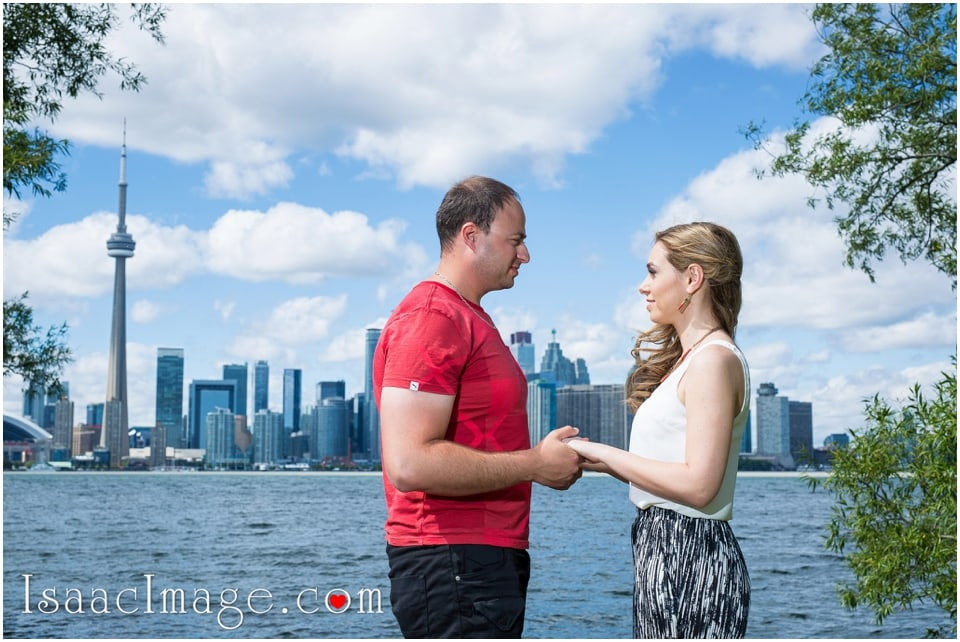 Toronto Island engagement session skyline