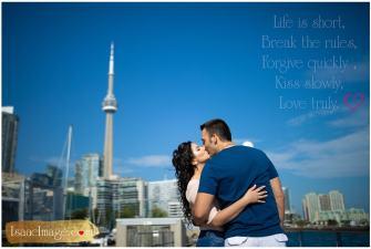 Toronto financial district Engagement Steve and Sabina