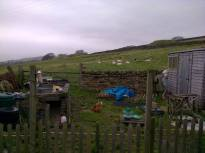 Shows the area beyond the cottage garden.