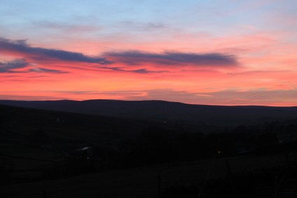 Gorgeous sunset view from Isaac's Byre