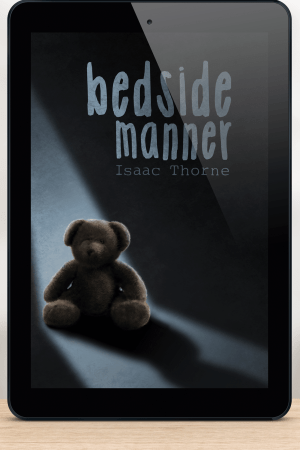 iPad featuring the BEDSIDE MANNER cover.