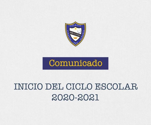 Comunicado de inicio de Ciclo 2020-2021