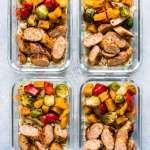 Healthy Sheet Pan Sausage And Veggies Isabel Eats Easy Recipes