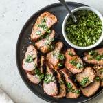 Grilled Pork Tenderloin With Easy Herb Sauce Isabel Eats
