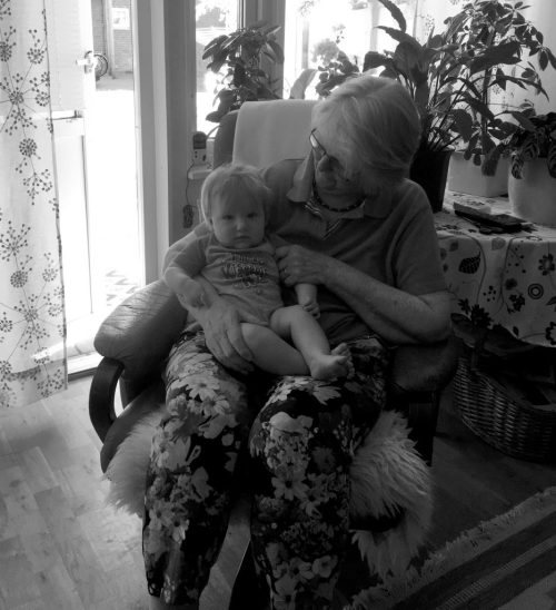 With Great Grandmother