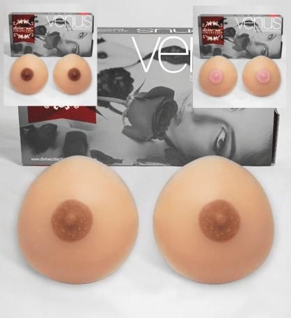 Sylikon Busen der Marke Venus mit verschiedenen Nippeln