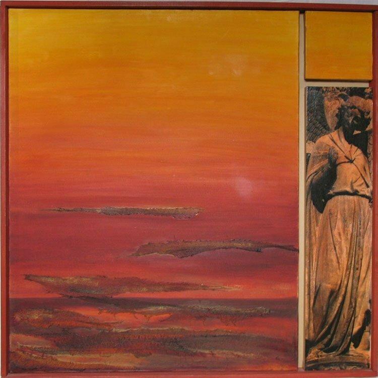 N°2 - L'invitation de l'Ange - 91,5x91,5cm - technique mixte - 2002 - 700 €.