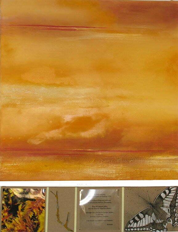 Les marais tufiers - N°5 - 103x80cm - technique mixte - collection particulière.
